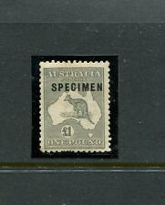 THIRD WM L1 GREY TYPE C SPECIMEN with shaved P mint