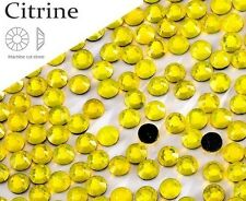 3mm Great Quality Hot Fix/Iron on Citrine Yellow Flatback Round HOTFIX SS10