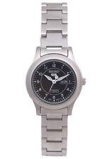 Seiko 5 Automatic Ladies Steel Satin finish Watch Black Dial SYME03K1 UK Seller