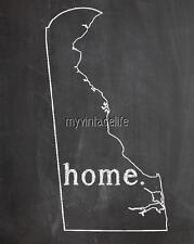 "DELAWARE HOME STATE PRIDE 2"" x 3"" Fridge MAGNET CHALKBOARD CHALK COUNTRY"