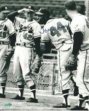 HANK AARON AUTOGRAPHED 8X10 PHOTO BRAVES