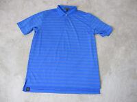 Peter Millar Summer Comfort Polo Shirt Adult Extra Large Blue Purple Dri Fit Men