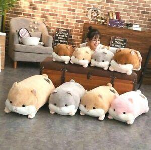 Animal Pillow Bear Long Hamster Plush Toy Cute Stuffed Hugable Gift Home Cotton
