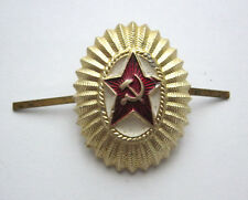 Soviet Russian Army Military Uniform Hat Red Star Pin Badge USSR CCCP