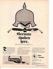 1969 A. SHOEMAKER HEADERS ~ ORIGINAL PRINT AD
