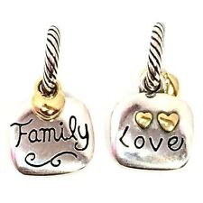Brighton Family Love Charm, JC0242, Silver/Gold Finish, New