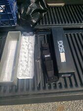 SOG SEAL Team Elite TiNi Fixed Serrated Blade Black Handle Knife + Sheath SE37N