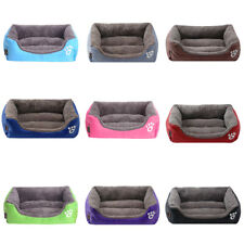 Large Pet Dog Cat Bed Soft Warm Mat Washable Candy Kennel Mat Color Square Nest