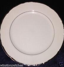 "PRUDENCE EKCO BALERA BREAD & BUTTER PLATE 6 3/8"" PLATINUM TRIM & VERGE ON WHITE"