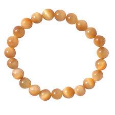 Cat's Eye Stone Chakra Healing Balance Beaded Bracelet Reiki Prayer Stone Unisex