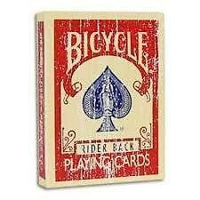 RED FADED BACK Bicycle deck of playing cards USPCC old vintage magic trick gaff