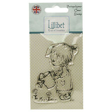 WATERING FLOWERS - Lillibet Collection Mini Clear Stamp - Trimcraft