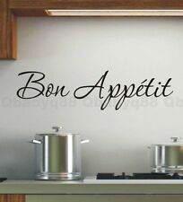 Bon Appetit Wall Quote decal Removable stickers decor Vinyl DIY home art gift