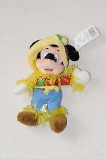 Disney World Scarecrow Mickey Mouse Bean Yellow Hat Halloween Plush Wizard Oz