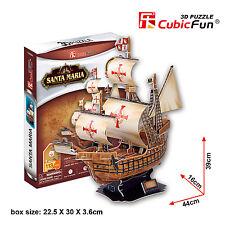 New Santa Maria 3D Model Ship Jigsaw Puzzle 113 Pieces T4008H Kids Toy