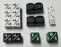 MTG Dice Starter Set / 18 Unique Counters for CCGs like Magic: The Gathering