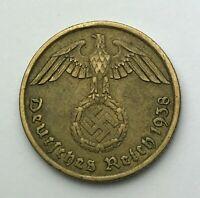 Dated : 1938 A - Germany - 10 Pfennig - Ten Pfennig - German Coin
