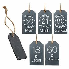 Personalised Birthday Gift Novelty Gift Tags Bottle Tag Engraved 18th 21st 30th