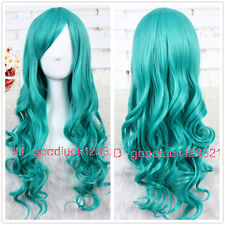 65cm long Dark Turquoise Bleach Neliel Wavy Cosplay party Wig +a wig cap