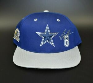 Dallas Cowboys Troy Aikman NFL Twins Enterprise Vintage Snapback Cap Hat - NWT
