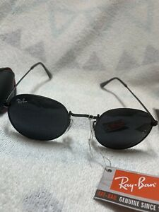Ray-Ban Round Metal Woman/Men Sunglasses - Black Frame with Black Lens