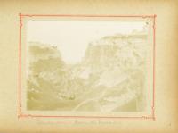 Algérie, Constantine ( قسنطينة), Ravin du Rummel  Vintage citrate print.  Tira