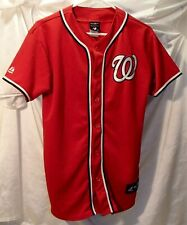 Washington Nationals Nats Red Embroidered Baseball Jersey Youth Size XL