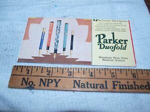 Parker fountain pen Duofold era ink blotter (931)