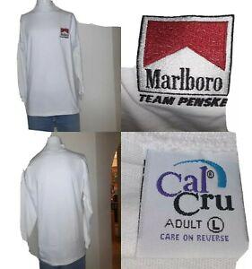 Marlboro Team Penske Turtleneck  shirt Sz L 44 x 32