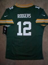 ($60) NIKE Packers AARON RODGERS nfl (2017-2018) Jersey Youth *GIRLS* (L-LARGE)
