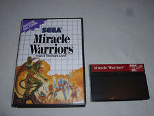 BOXED MASTER SYSTEM GAME MIRACLE WARRIORS SEAL OF THE DARK LORD W BOX