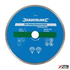 Silverline 993035 Continuous Rim Tile Cutting Diamond Blade Disc 180mm x 22.23mm