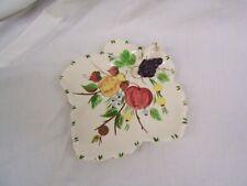 Vintage Blue Ridge China Handled Leaf Plate Hand Painted USA VGC