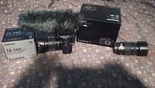 Panasonic LUMIX DMC-GH4 WITH LUMIX DMW MS2, 2 Lens 14-140, 45-175 Power Zoom