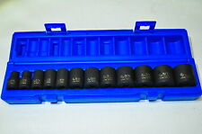 "12 Piece 3/8"" Drive  6 Point SAE Impact Socket Set 5/16"" to 1""  Grey GP1213"
