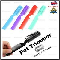 Tool Cut Thinning Razor Pet Hair Trimming Dog Scissor Cat Brush Grooming Comb