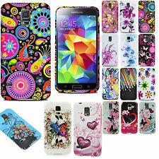 Vintage Flowers Pattern Floral Silicone TPU Back Cover for Samsung Galaxy S5