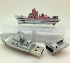 Silver Metal Battleship Boat Cruiser Novelty 16GB USB Memory Stick Flash Drive