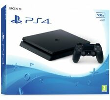 Sony PLAYSTATION 4 SLIM 500GB JET BLACK console PS4 Nuovo di zecca in scatola