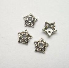 100pcs Tibet silver Flower End Beads Caps 8x2.5 mm