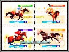 CANADA 1999 CANADIAN DOMESTIC HORSES MINT FV FACE $1.84 MNH RARE STAMP SET BLOCK
