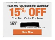 Home Depot 15% OFF Coupon Online- Save up to $200