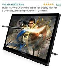 Huion Kamvas 20 Gt-191 V2 19.5 Inch Drawing Tablet HD Screen 8192 Battery Pen