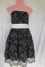 Majora NWT $99.99 Black/White Lace  Strapless Grad Evening Dress Size M/M ()