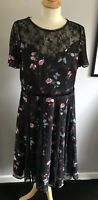 MONSOON SHORT SLEEVE FULL LINED PARTY/COCKTAIL DRESS SIZE 16(44)US 12 BNWT £119