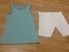 Next Brand New Girls Size 6 Years Mint Green Vest Top & White Shorts