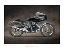 Motorcycle Limited Edition Print - Egli Vincent 1000 - Artwork by Steve Dunn
