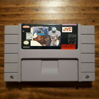 Emmitt Smith football game AND MANUAL ( SNES Super Nintendo OEM  ) Tested!