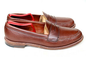 Alden New England 17831F Brown Leather Hand Sewn Penny Loafer Slip On Dress 9.5