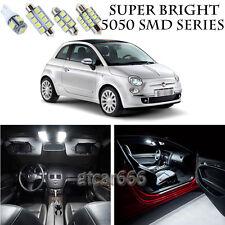 5050 SMD White LED Interior Lights Package Kit For 2012-2017 Fiat 500 3pcs